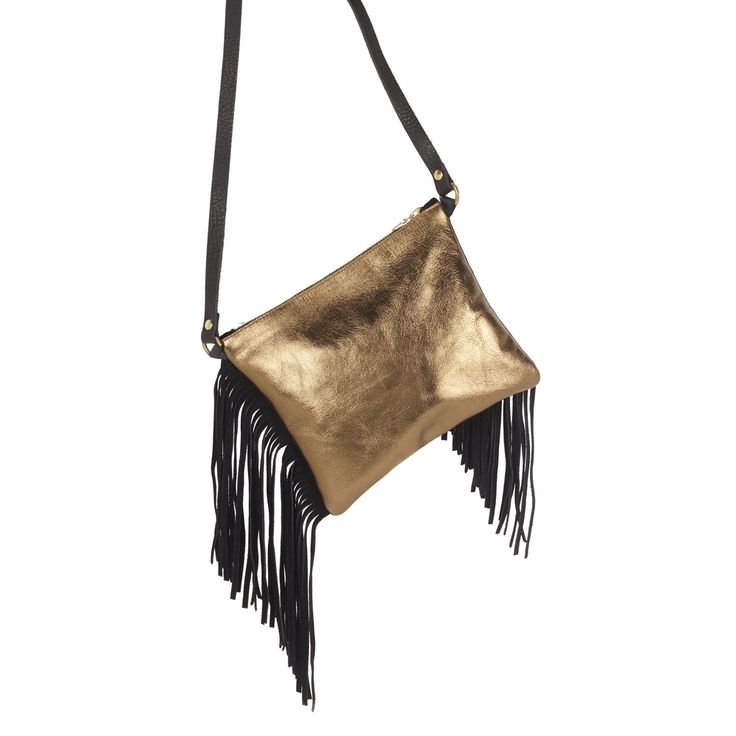 Sarah Baily | Teri Messenger Bag - Bronze leather / suede