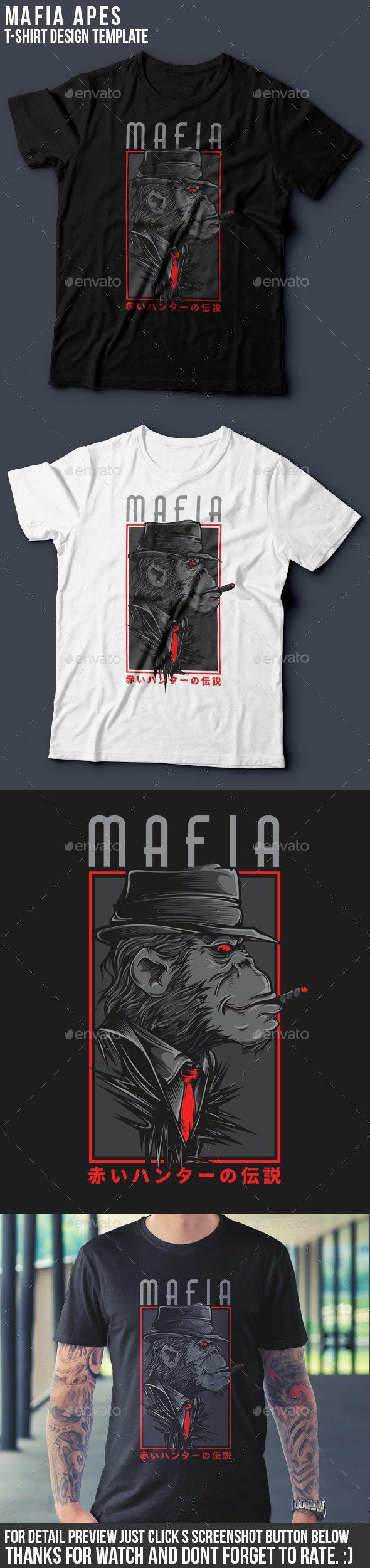 Mafia 2 TShirt Design — Vector EPS #apes #cloth • Available here → https://graphicriver.net/item/mafia-2-tshirt-design/12702897?ref=pxcr