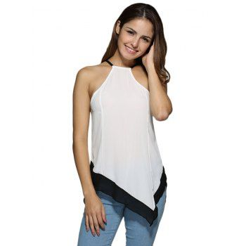 $9.43 | Sexy Halter Color Block Asymmetrical Women Tank TopFor Fashion Lovers only:80,000+ Items·FREE SHIPPING Join Dresslily: Get YOUR $50 NOW!