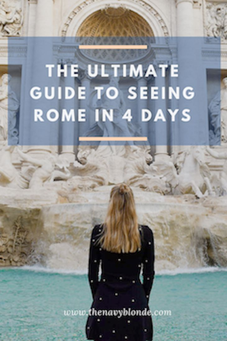 The ultimate guide to seeing Rome, Italy! Where to go in Rome, what to eat in Rome, and the best things to do in Italy. Travel tips and travel inspiration from The Navy Blonde!
