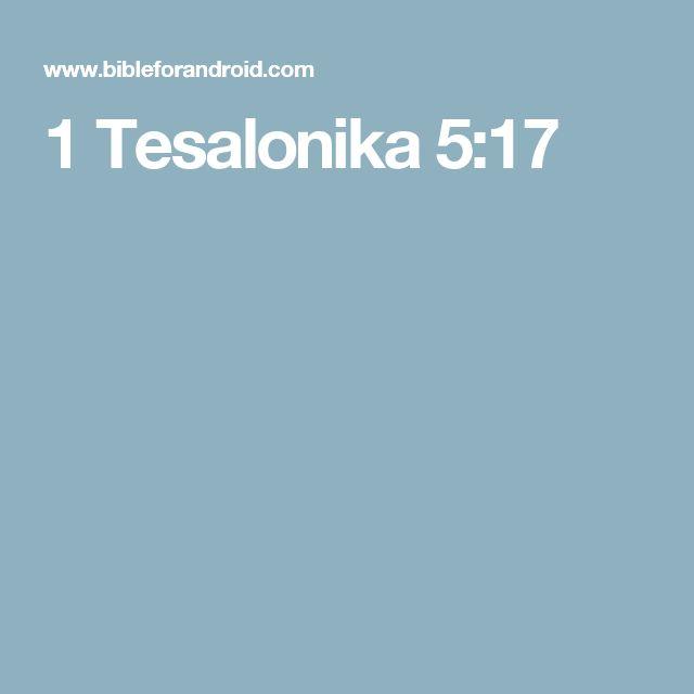 1 Tesalonika 5:17