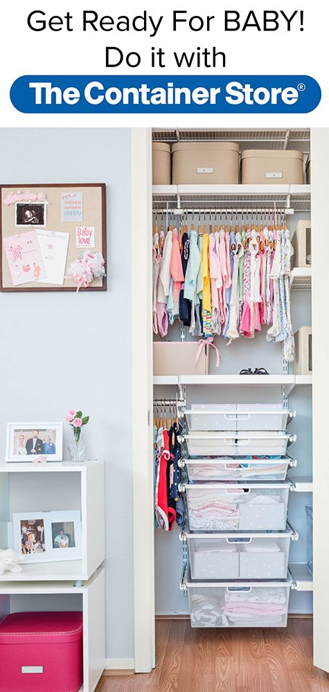 Even The Tiniest Baby Means A Lot Of Stuff. Get It All Organized With An  Elfa Nursery Closet. All Easy To Reposition At Any Time.