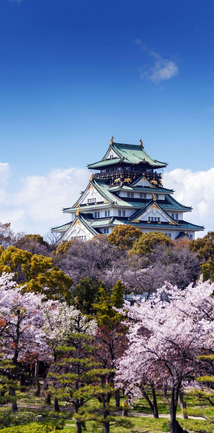 Amazing View of Osaka Castle, Japan.
