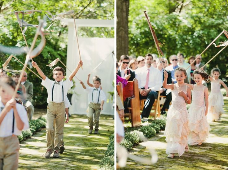 Tennessee Estate Wedding  Tennessee Outdoor wedding  bohemian wedding dress wedding procession with ribbons tealephotography.net
