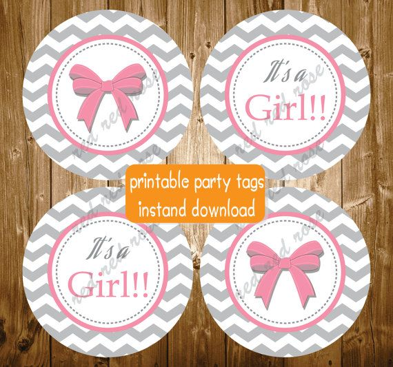 Hey, I found this really awesome Etsy listing at https://www.etsy.com/listing/218323858/its-a-girl-pink-grey-baby-shower-bow