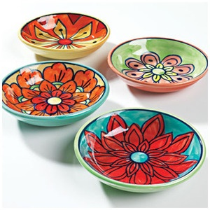 HAND PAINTED MINI BOWL/DISH - MBOWL1This mini ceramic bowl or dish is beautifully hand painted with a floral design and traditionally fired.Size approx: w:10 x d:10 x h:2cmMaterial: ceramicCare: Hand wash ceramics with warm soapy water. Ceramics are food safe.Due to the handmade nature of this product the colours may vary slightly.