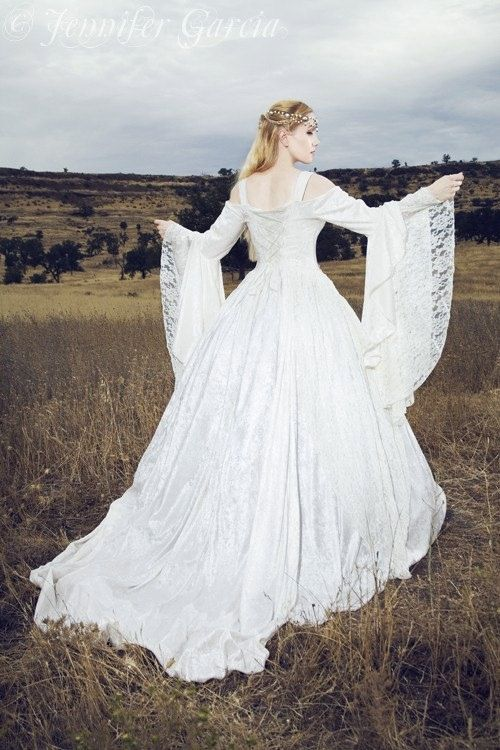 Gwendolyn Medieval or Renaissance Wedding Gown by RomanticThreads, $525.00