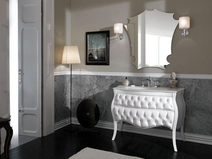 Mobile lavabo capitonné con cassetti VANITY CAPITONNE' by LEGNOBAGNO
