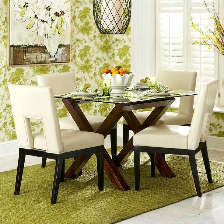Bennett dining table base square glass bal
