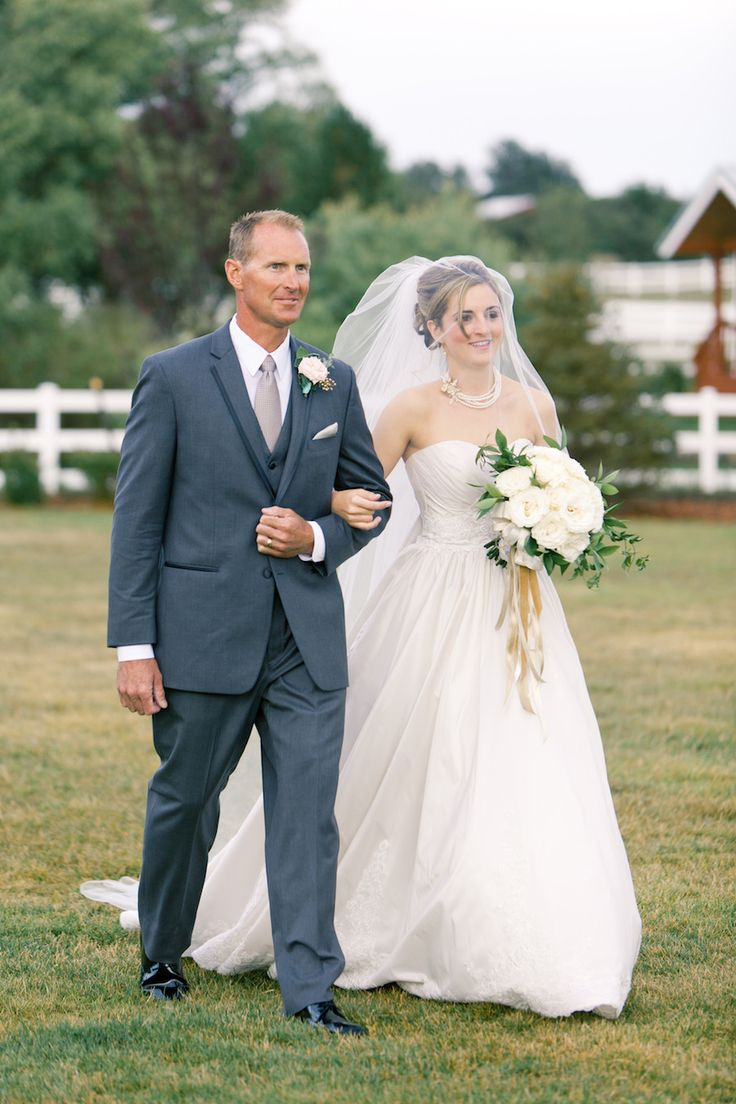 Father of the Bride - charcoal gray suit, white shirt (point collar), gray tie, black shoes