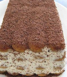 Tiramisu is een van oorsprong Italiaans dessert. De naam betekent letterlijk trek mij omhoog, wat zoveel inhoudt als beur mij op of maak mij blij. Tiramisu wordt dan ook vaak aan herstellende zieke...