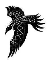 Эскизы черно-белые. ворон.