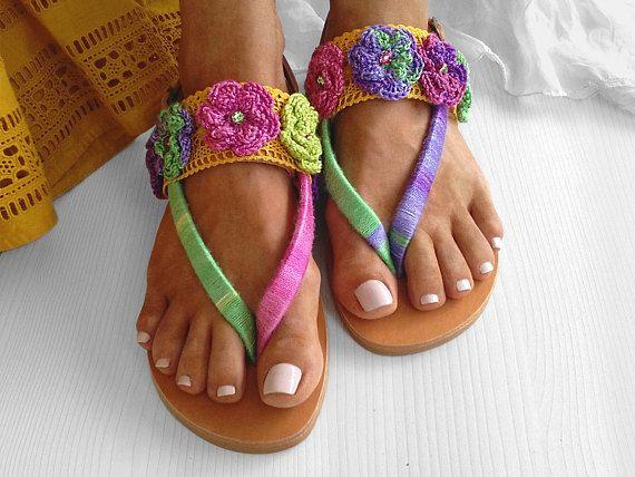 Greek Sandals, Rainbow Sandals