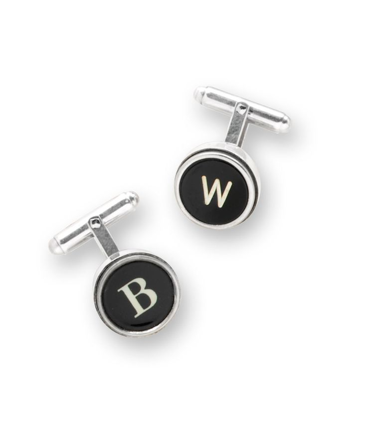 SILVER TYPE KEY CUFFLINK | Silver Type Key Cufflinks with Authentic, Vintage Typewriter Letters for Writers and Antique Lovers | UncommonGoods