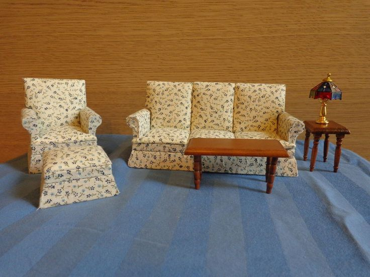 Dollhouse Furniture Mayberry Street Living Room Set
