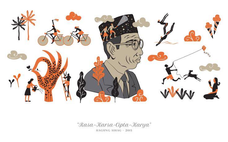 Membaca ulang dan melaksanakan ajaran Bapak Pendidikan Bangsa Indonesia - Ki Hadjar Dewantara Mural by Hagung Sihag