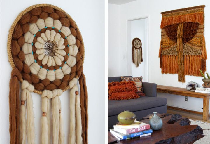 Woven wall art - It looks like a big sweater for the wall.