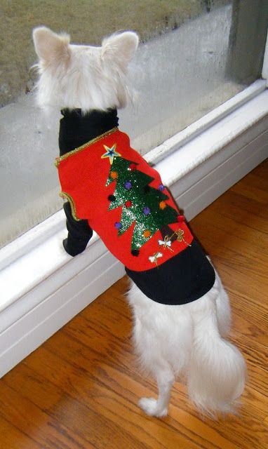 Sew DoggyStyle: Ugly Christmas Sweater Vest