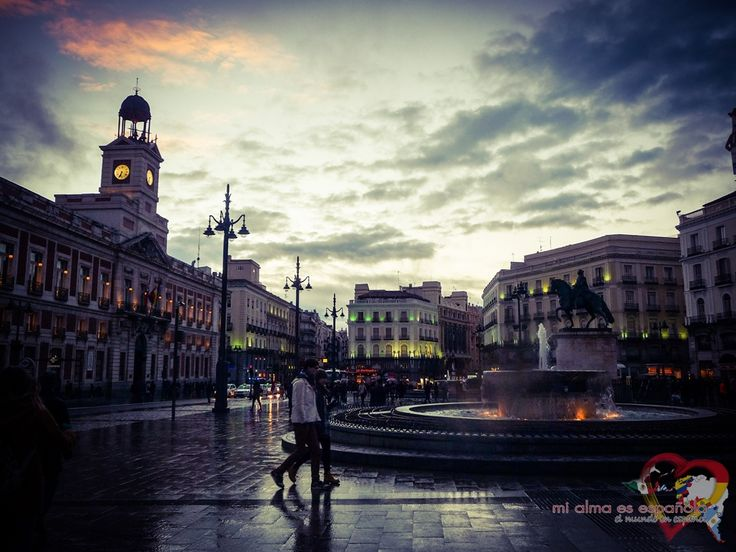 Plaza de la Puerta del Sol. Madrid, Spain.