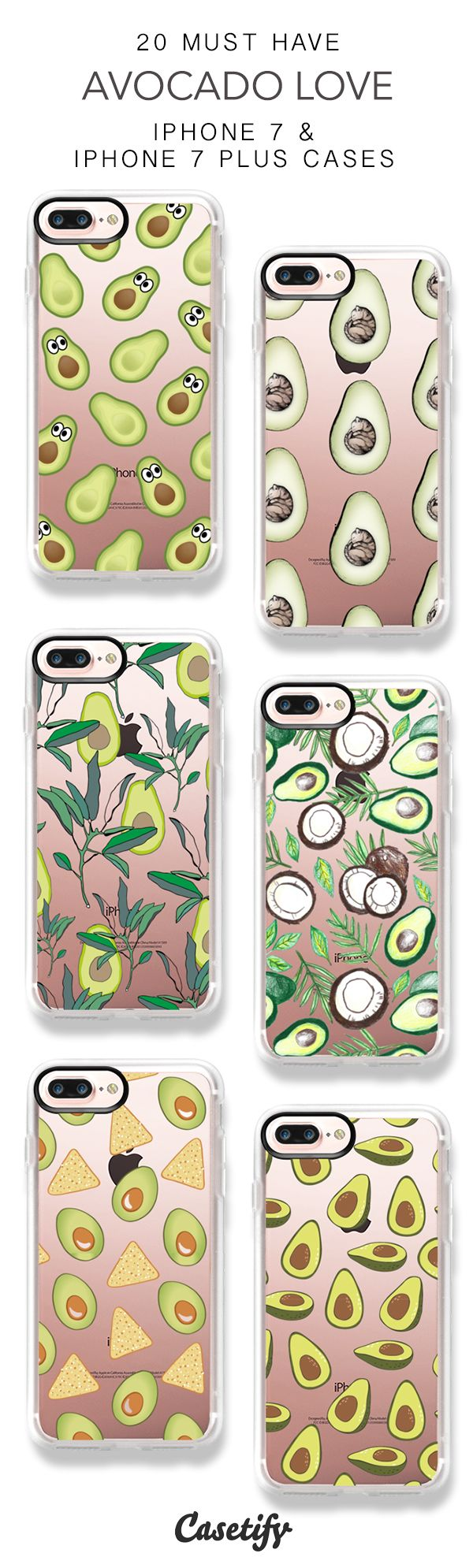 20 Must Have Avocado Lover Protective iPhone 7 Cases and iPhone 7 Plus Cases. More Food iPhone case here > https://www.casetify.com/collections/top_100_designs#/?vc=atehLwyIVJ