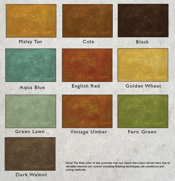 1000 Images About Concrete Stain Colors On Pinterest