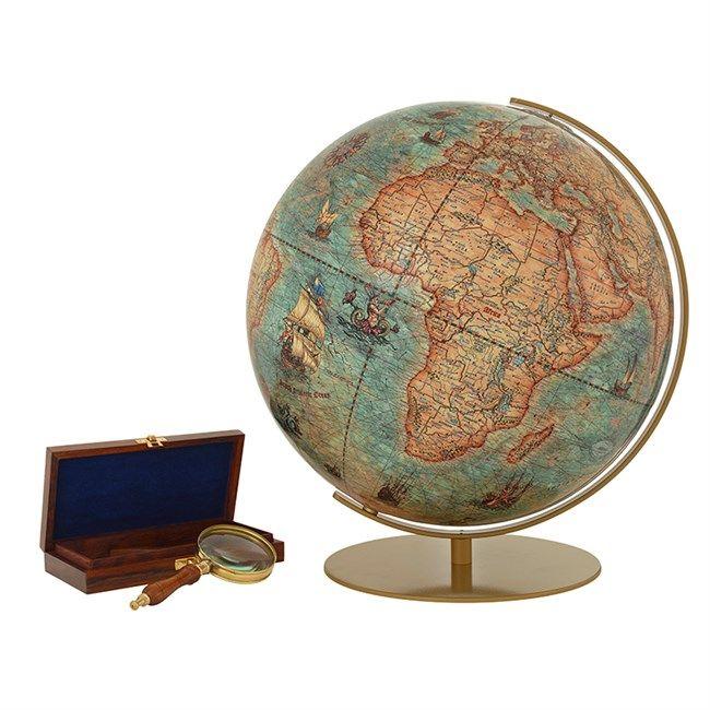 Globe imperial en verre acrylique, 34 cm