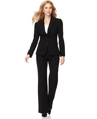 Tahari by ASL Petite Suit, Long Sleeve Button Front Jacket & Pants - Womens Petite Suits & Separates - Macy's, $160