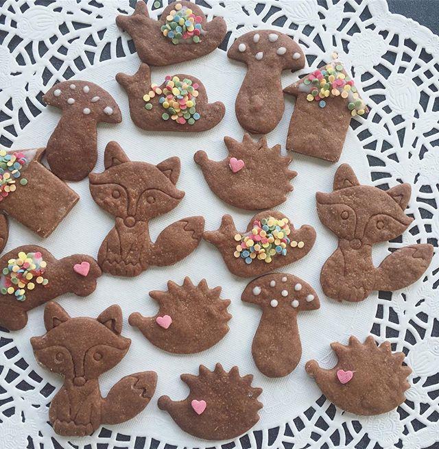 Am Nachmittag haben wir noch fleißig unsere herbstlichen Kekse verziert 😍!! Bunte Konfetti können einfach nicht genug drauf sein ☺️!! Das Rezept der leckeren Schokokekse findet ihr bei der lieben @_t_i_n_a_m_i_n_a_ ...auf einem Bild ihrer Osterkekse könnt ihr es sehen 😉!! . #kekse #schokokekse #herbstkekse #baking #backen #backliebe #backenistliebe #selbstgebacken #igel #waldtiere #fuchs #yum #yummy #solecker