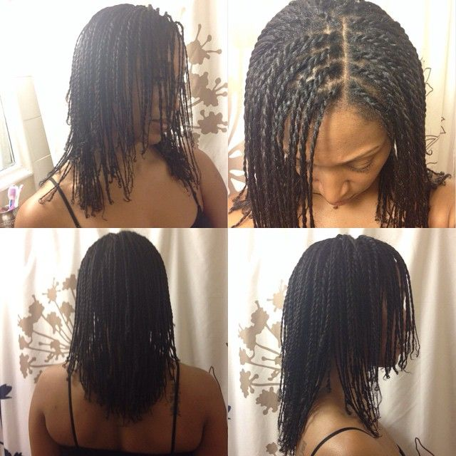 """Mini twists. Took me about 8 hours this time because I did them a bit smaller ☺ I blow dried my hair first. I used Shea butter on the hair and eco styler…"""