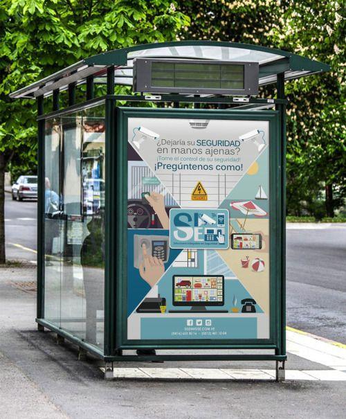 Afiche publicitario - Empresa de Seguridad.
