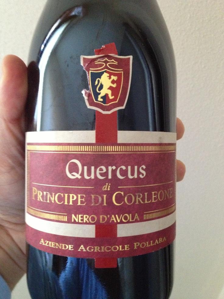 Ottimo questo nero d'avola quercus dei principi di corleone.