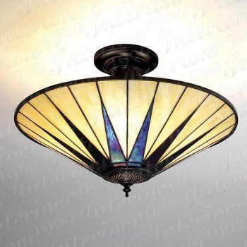 Art Deco Tiffany uplighter for low ceilings