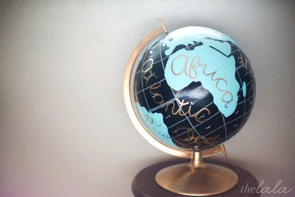 Anthropologie Hack: DIY Globe.