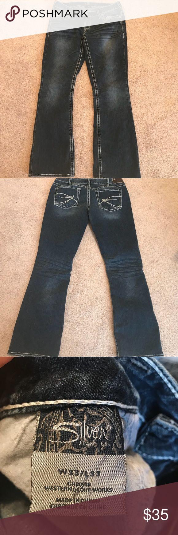 Women's Silver jeans 33x33 Akio bootcut Women's silvers size 33x33 akio bootcut Silver Jeans Pants Boot Cut & Flare