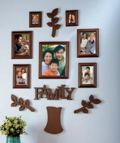12-Pc. Family Tree Frame Sets Picture Photo Collage Wall