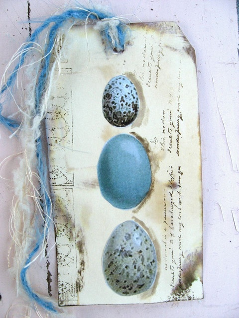 Egg tag by Brandywineboutique, via FlickrTags Your, Tags Atc, Blue Eggs, Tags Thy, Cards Tags, Brandywineboutiqu, Tags You R, Gift Tags, Eggs Tags
