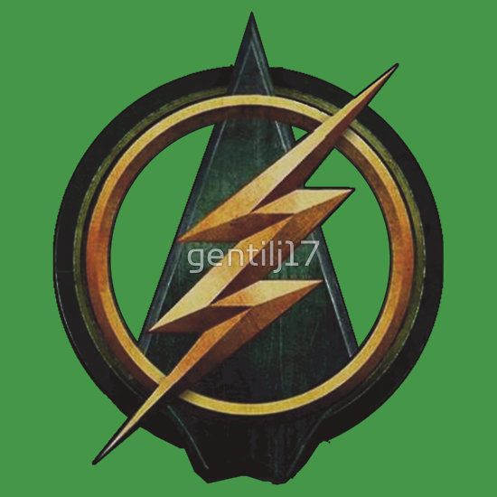 cw arrow and the flash crossover symbol shirt by gentilj17. Black Bedroom Furniture Sets. Home Design Ideas