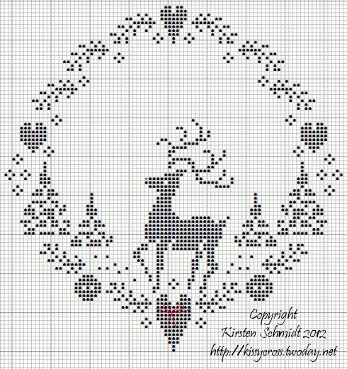 """Rudolph"" Counted Cross Stitch ~ by kissy"