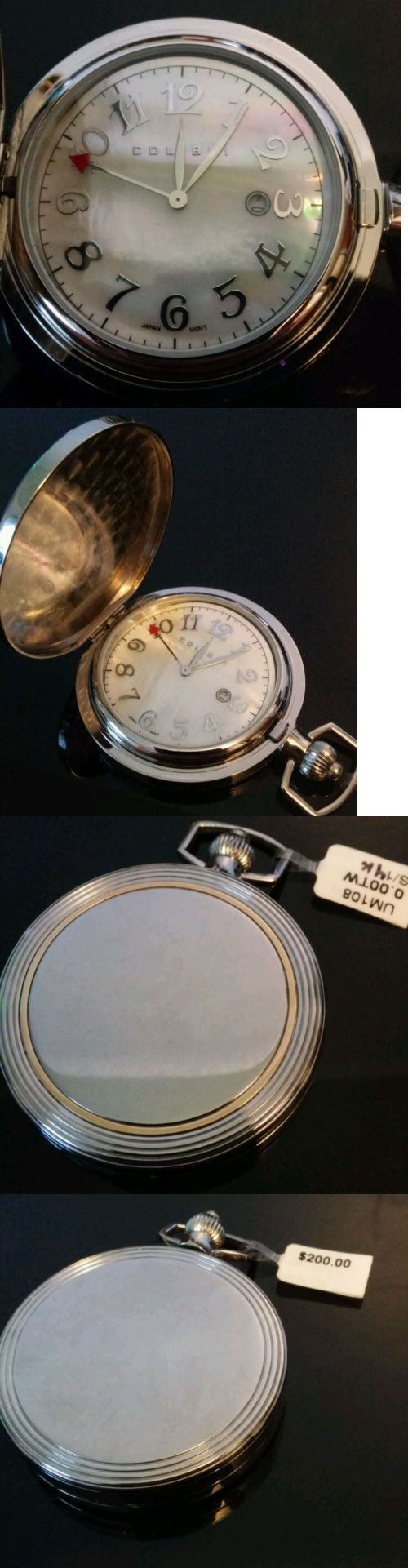 Other Pocket Watches 398: New Colibri Pocket Watch Mother Of Pearl With Date Display And Gmt -> BUY IT NOW ONLY: $100 on eBay!