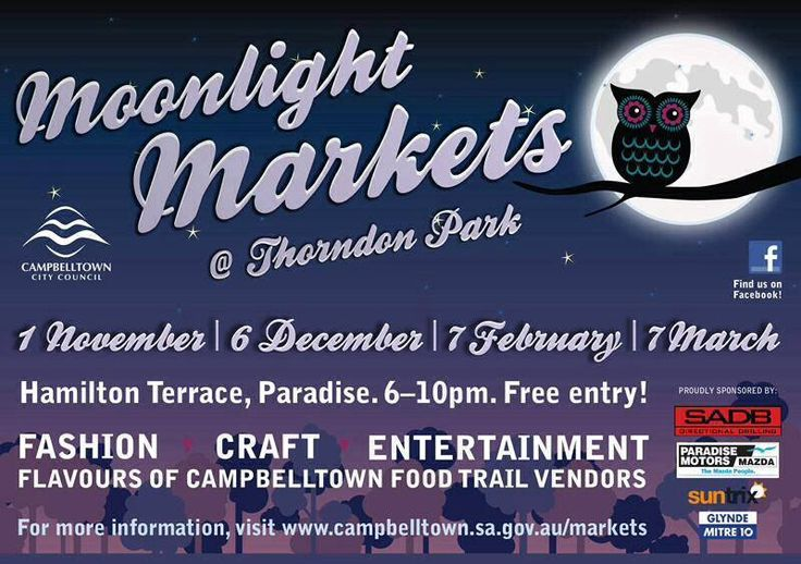 Come on down to Campbelltown Moonlight Market and grab yourself a Heat Bag. Thorndon Park 6-10pm this Friday 7 March. Awesome Market!