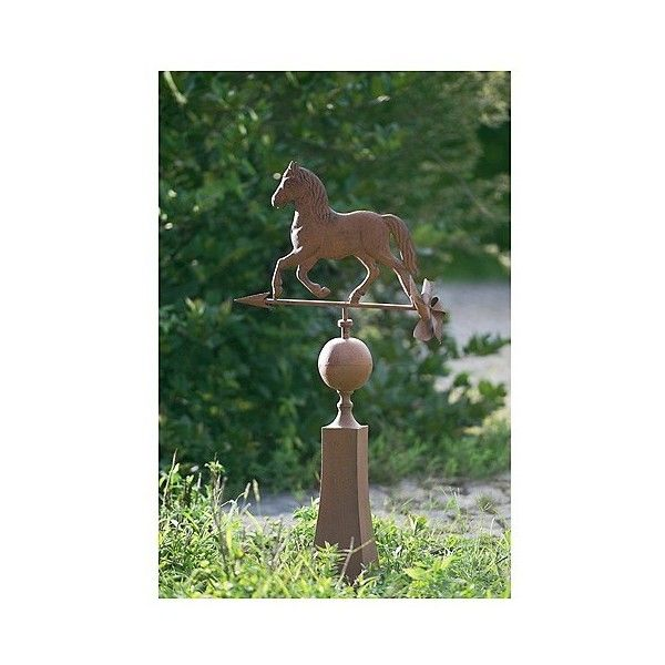 Sunjoy Vintage Horse Weather Vane Made Of Metal With Rust Finish,... ( ·  Vintage Garden DecorOutdoor ...