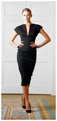 Victoria Beckham-your basic black.: Black Dresses, Beckham Dresses, Beckham Clothing, 2009 Ready To Wear, Victoriabeckham, Victoria Beckham, Spring 2009, Beckham Spring, Pencil Dresses