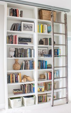Billy Bookcase Hack with Library Ladder - The Lilypad Cottage