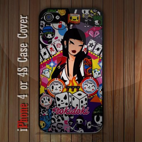 New Tokidoki Vegas Poster iPhone 4 or 4S case Cover iPhone case 4/4S - 1
