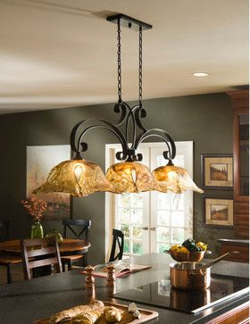 Love this light fixture.  Even has gray walls