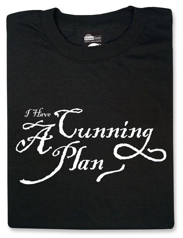 ThinkGeek :: I Have a Cunning Plan