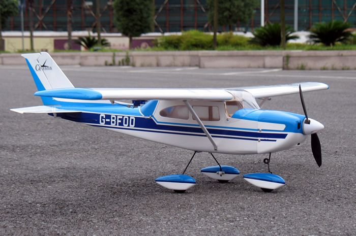 rc airplanes   cessna skylane 15 41 nitro electric rc airplane arf blue *just had to post something as my afternoon sky is being entertained by some*