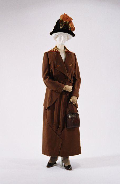 Walking suit, c. 1910-1915.