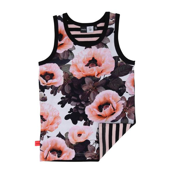 Molo Joshlyn Pink Poppies Vest Top