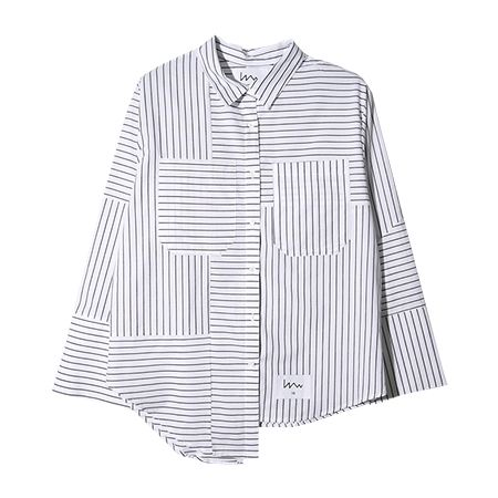 Stripes shirt.